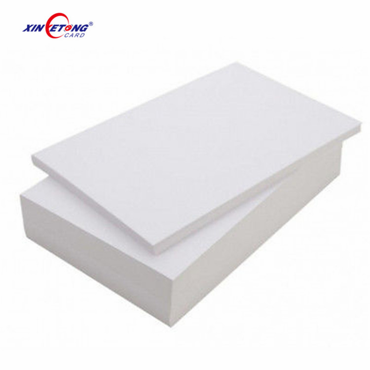 125KHZ Inkjet Printable RFID Blank Card With Available TK4100 Chip