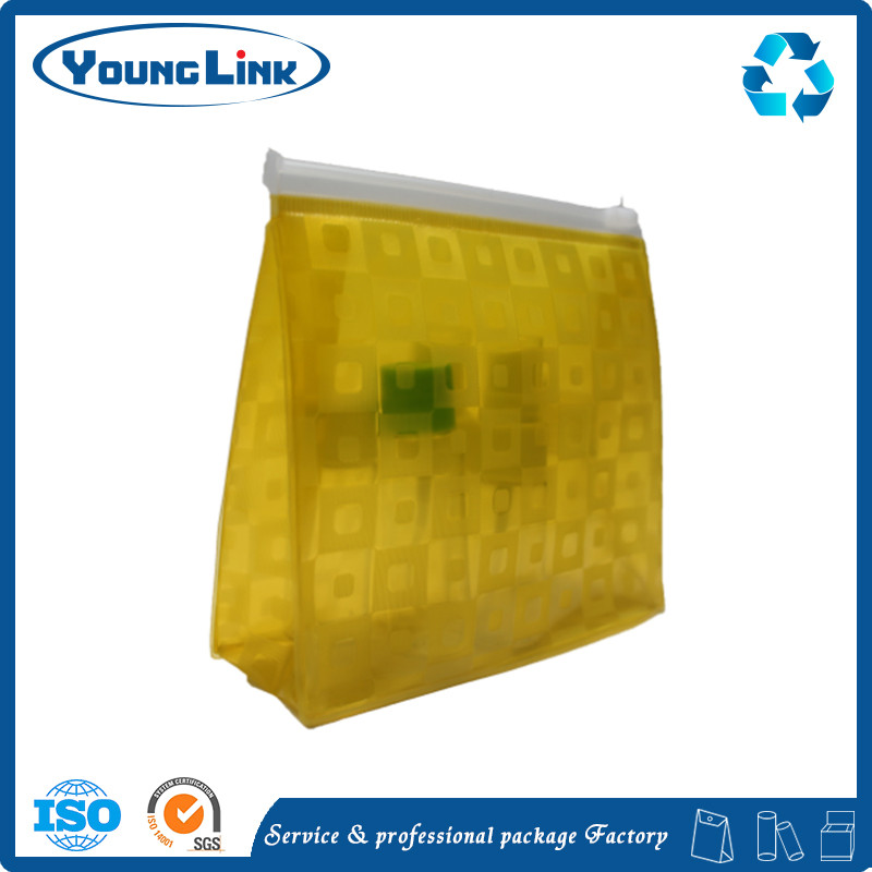 custom personalized die cut handle gold plastic bag for garment packing