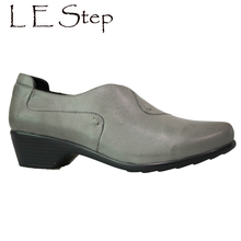 New Design Elegant Heel style Office Walking Natural Leather Light Weight Perfect Steps Ladies Ankle Shoes