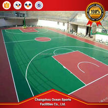 outdoor basketball court rubber mat acrylic paint for sport court