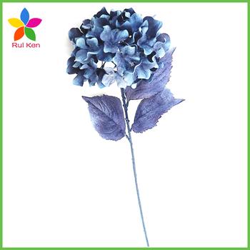 16 inch artificial dark sapphire hydrangea silk flower stem view 16 16 inch artificial dark sapphire hydrangea silk flower stem mightylinksfo
