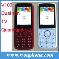 2012 NEW TV Cell Phone WPV100 with Dual Sim Card,facebook,MSN,Twitter,yahoo