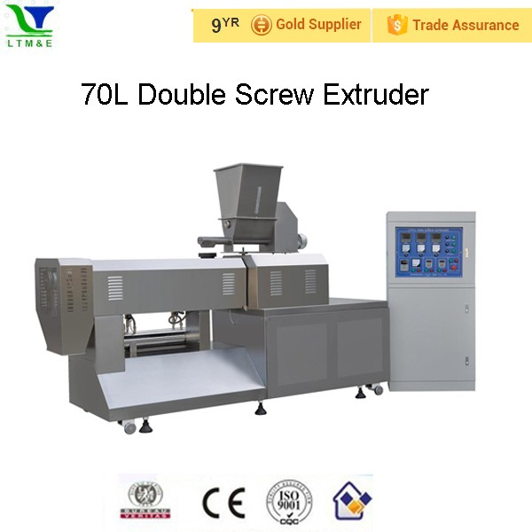 Extruded fish feed extruder machine