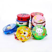 FQ brand wholesale child Wood wood Head mini Tambourine Hand Drum with Bells