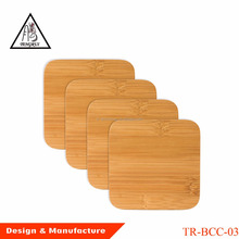 Set of Bamboo Coaster Set with Bamboo Holder wooden coaster