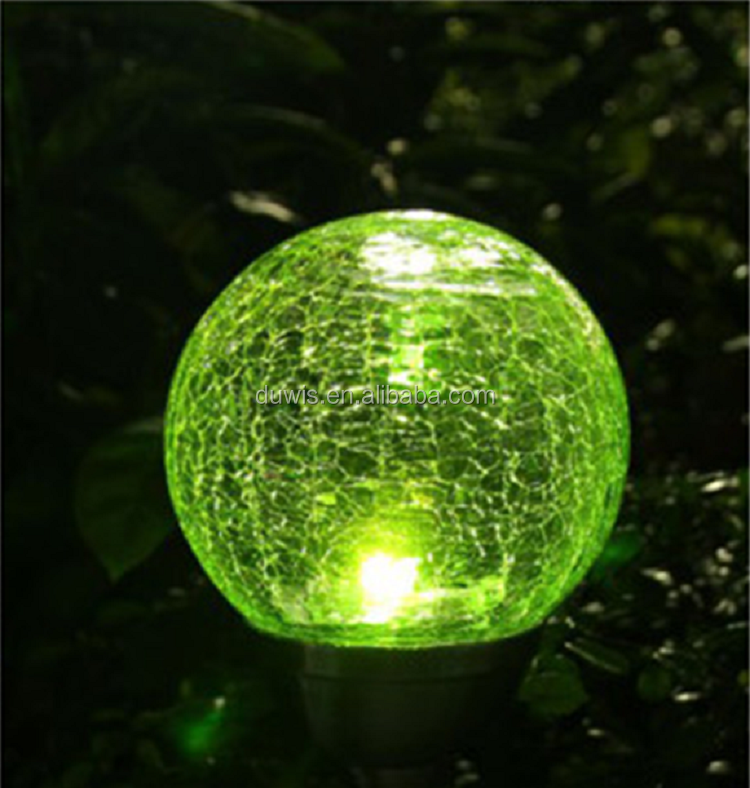Beautiful design China manufacturer glass shape led solar garden/lawn light for outdoor use