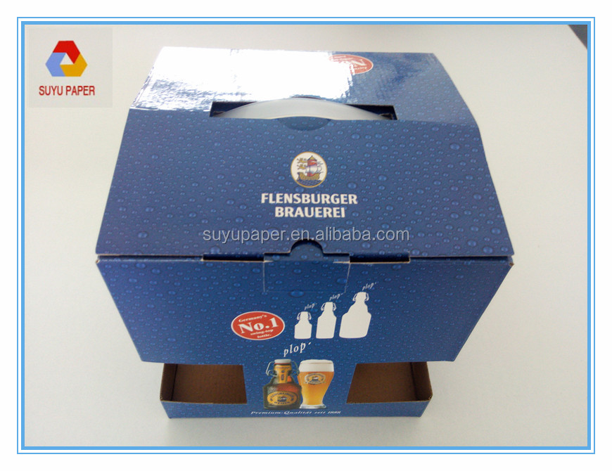 creative paper packaging box for beer or wine