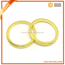 Factory price custom made metal flat o ring for bags