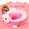 2017 best design cute pig shape warm pp cptton large pet dog kennel