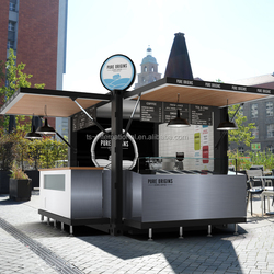 10FT POP-UP Shipping container kiosk design, Mobile fast food kiosk for sale