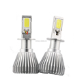 COB LED chip 20W 12V automobiles auto car led headlights bulb kit H3