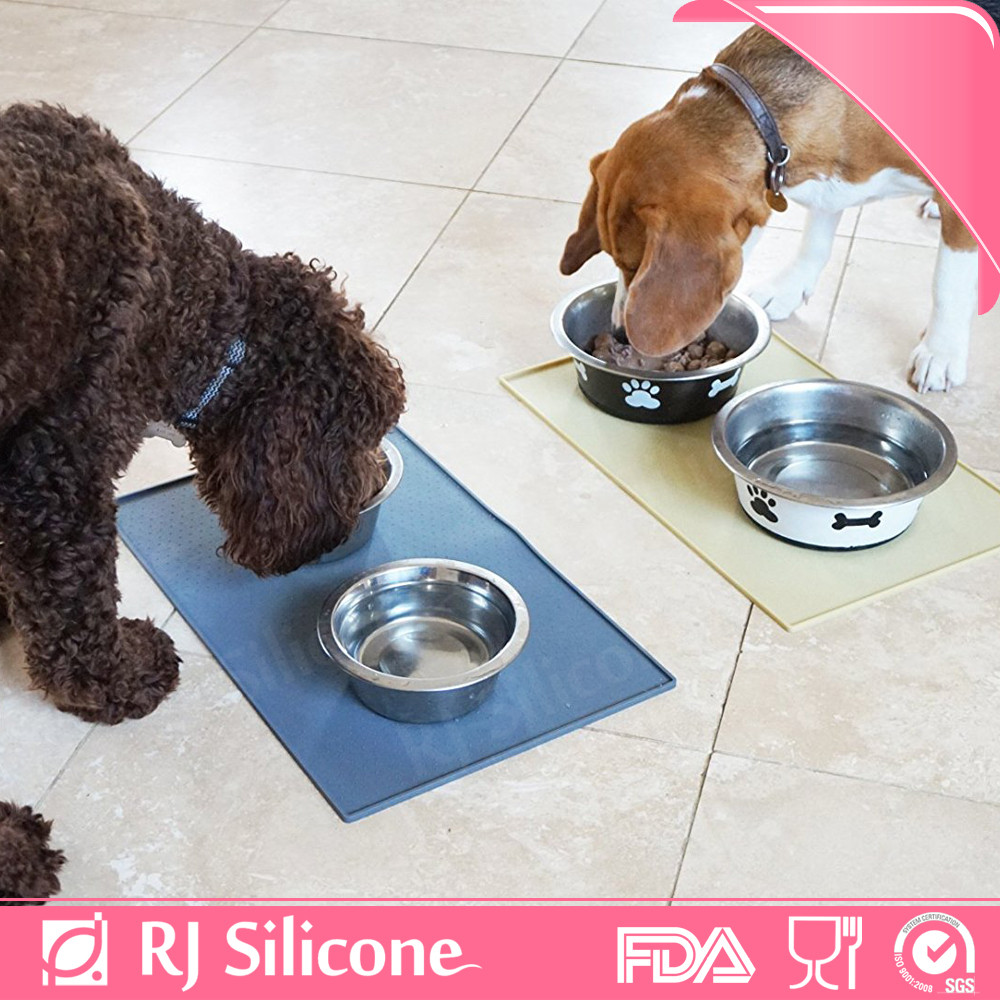 RJSILICONE dog dinner mat cat mats silicone pet food mat