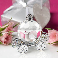 Redbox married wedding favor small gifts mini pumpkin car ornaments crystal paperweight desk sets