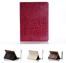 Crocodile Alligator Pattern Premium PU Leather Protective Case for Ipad air, Skin Folio Stand Case Cover for ipad 5
