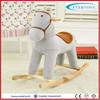 grey kid riding mechanical large plush rocking horse toy