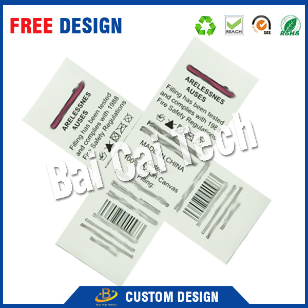 Best price waterproof washable custom t-shirt labels and tags