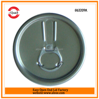 Canned drinks metal easy open top end
