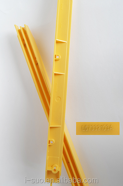 Promotion ABS yellow plastic escalator demarcation