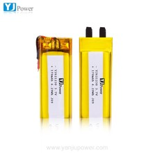 Safety rechargeable cell 3.7V 170mAh lipo battery for 3D glasses 621230