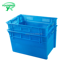 Blue Large plastic crate be used in factory and shop market/logistics dislocation box for transport