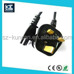 bs power cord with fuse plug for United kingdom market