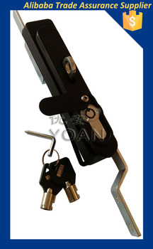 Black coated ZDC rod control multi-point lock with high security cylinder