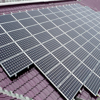 solar panel mounting structure for flat roof