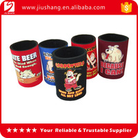 New custom design beer bottle cover printed foam can cooler for party