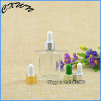 30ml frosted e liquid glass bottle with gold and silver aluminum from Shenzhen manufacturer