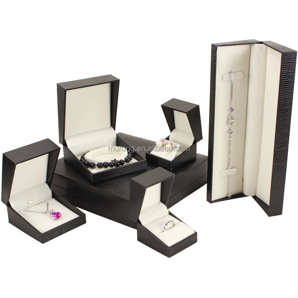 MURONG Luxury Jewellery Boxes With Velvet Insert for jewelry packaging