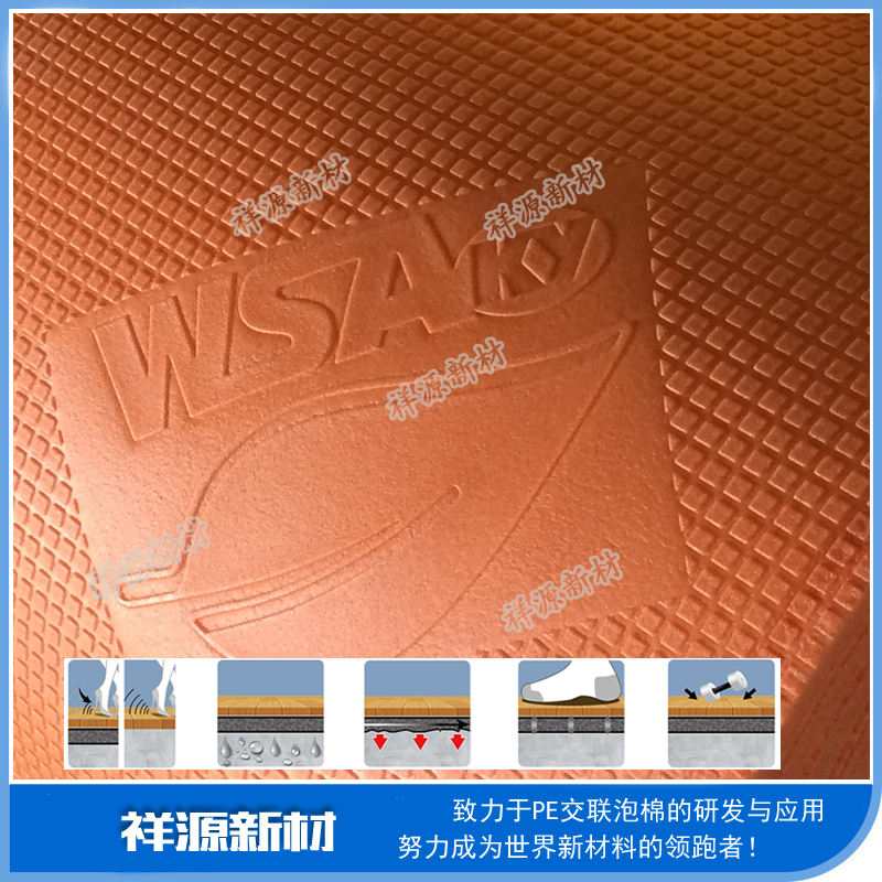 Acoustic Closed-cell Vinyl Plank Lock PE Foam IXPE Underlay wpc interlocking vinyl tile flooring