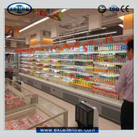 beverage and dairy display showcase for convenience store, a cooler type