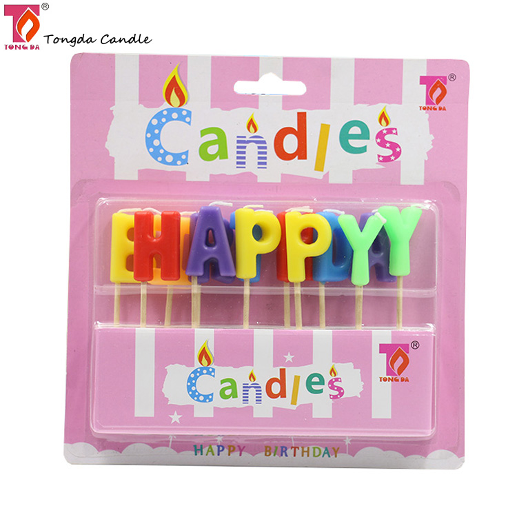 Wholesale letter shaped happy birthday candles