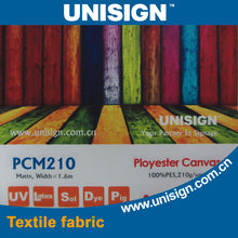 210GSM 100% polyester eco solvent canvas for digital printing
