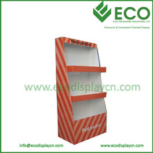 Supply Supermarket Cloth Pop Carton Display Cardboard Cheap Clothes Display Racks And Stands