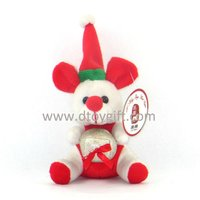 "8"" stuffed Christmas toy mouse Christmas animal toy"