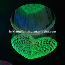 2012 old designer do unique design! 8colors fiber chandelier lamp for any size and design
