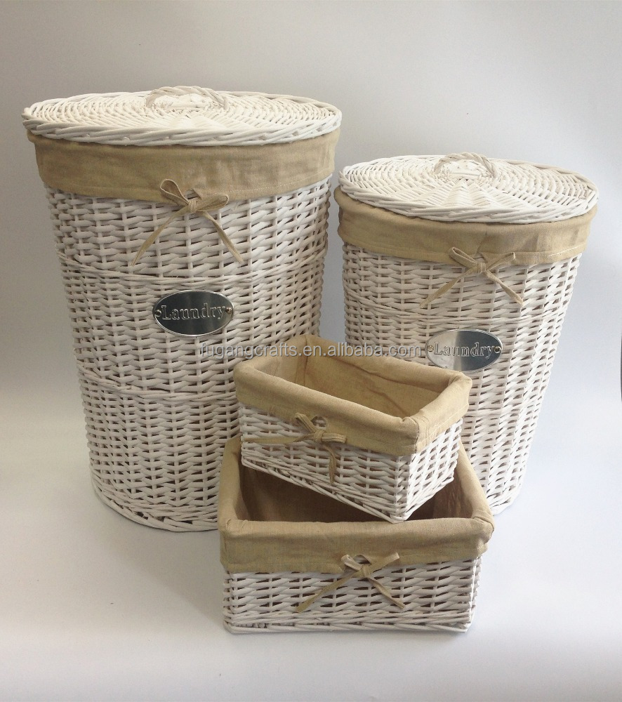Jn white wicker laundry basket with lid buy hand weaving wicker laundry large wicker laundry - Rattan laundry basket with lid ...