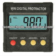 Mini Digital Protractor /digital bevel box with ABS Plastic housing