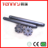 Eight Gear Graphite Impeller and Shaft for Aluminium