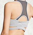 Women Sport Bra Padded Crossed Band Running Fitness Seamless Bra Wholesale