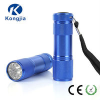 Mini Type 9 LED Lamps AAA Dry Battery Environment Friendly Handheld Flashlight