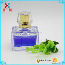 80ml cube shape glass perfume bottles ,Hot sell in Dubai