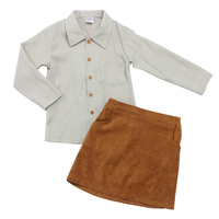 2019 New Arrival Children Outfits Wholesale Newborn Baby Clothes Suede Skirt Shirt Set Little Girls Summer Outfit