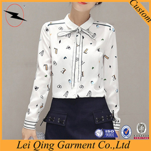 All-match chiffon bottoming shirt with bow tie design for young women