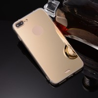 Factory price electroplating hard plastic case phone cover back with mirror phone case