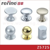 zinc alloy single hole Drawer Knob and handles round for bedroom kitchen cabinet