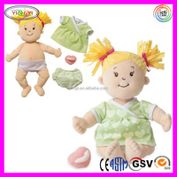 A671 Best Soft Doll Toy Girl Blonde Angel Stuffed Plush Real Mini Love Doll