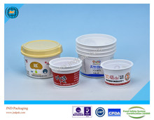 opaque white plastic container for sauce with FSSC 22000 certificate