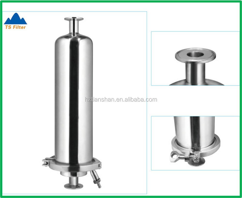 Stainless steel air filter for compressor with membrane cartridge filter